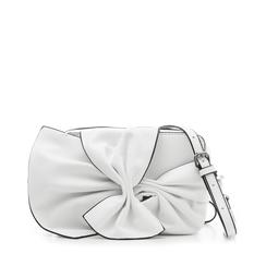 Camera bag bianca in eco-pelle con fiocco, Borse, 132300505EPBIANUNI, 001a