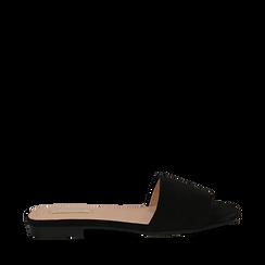Mules flat nere in microfibra, Primadonna, 132708189MFNERO035, 001a