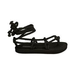 Sandali mare neri in tessuto , Primadonna, 170909004TSNERO035, 001 preview