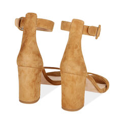 Sandali ruggine in camoscio, tacco 8,5 cm, Primadonna, 15D600501CMRUGG036, 004 preview