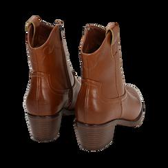 Ankle boots cuoio, tacco 5,50 cm, Primadonna, 150693111EPCUOI036, 004 preview