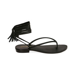 Sandalias negras con cordones, Primadonna, 174982380EPNERO035, 001 preview