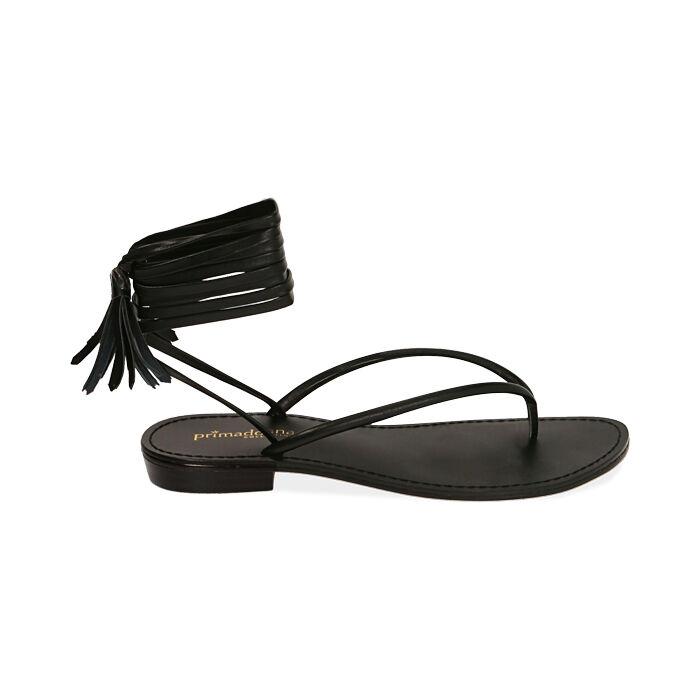 Sandalias negras con cordones, Primadonna, 174982380EPNERO035