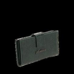Portafogli verde stampa vipera , IDEE REGALO, 165122158EVVERDUNI, 002a