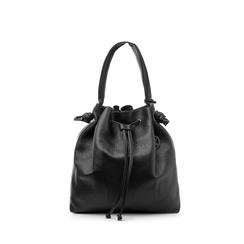 Maxi secchiello nero in eco-pelle, Borse, 141981214EPNEROUNI, 001a