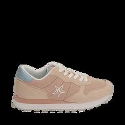 Sneakers rosa in microfibra, Primadonna, 150620011MFROSA036, 001a