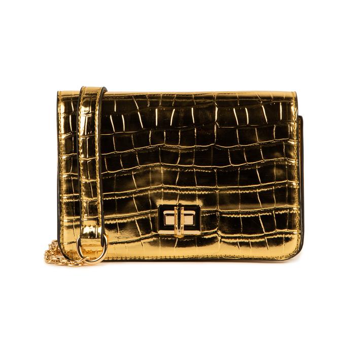 Borsa piccola oro stampa cocco, Primadonna, 155701124CCOROGUNI