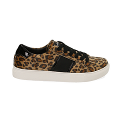 Sneakers leopard marroni in eco-pelle, Scarpe, 142619071CVLEMA036, 001 preview