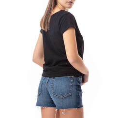 T-shirt nera con stampa fashion, Primadonna, 17I703006TSNEROL, 002 preview
