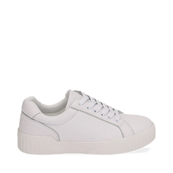 Sneakers en eco-piel color blanco, 150620171EPBIAN035, 001a