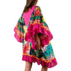 Caftán multicolor en tejido estampado de flores, Primadonna, 150500090TSMULTUNI, 002 preview