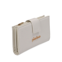 Portafogli bianco in eco-pelle, Primadonna, 155122158EPBIANUNI, 002a
