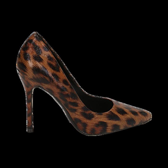 Décolleté marroni leopard, tacco 11 cm , Primadonna, 162146861EPLEMA035