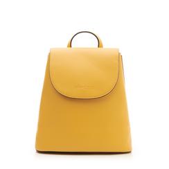 Zainetto giallo in eco-pelle minimal, Borse, 133783137EPGIALUNI, 001a