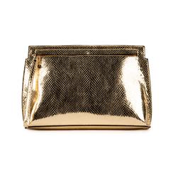 Pochette doré en simili cuir imprimé vipère, Primadonna, 15D208516EVOROGUNI, 001 preview