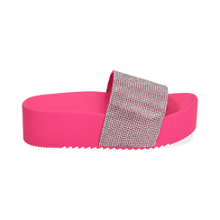 Ciabatte platform fucsia in pvc, suola 5 cm , Zapatos, 154700072PVFUCS039, 001 preview