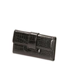 Portafogli nero stampa cocco, Primadonna, 185102538CCNEROUNI, 002a
