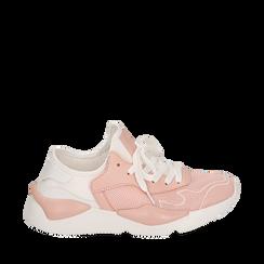Dad shoes en tejido tecnico color nude, Zapatos, 15F609059TSNUDE035, 001a
