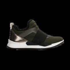 Sneakers verdi con tacco basso, Scarpe, 121617843LYVERD, 001 preview