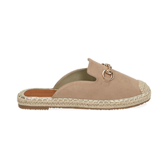 Slippers beige in microfibra, Chaussures, 154951159MFBEIG035, 001 preview