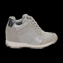 Baskets à paillettes dorées et argentées, Chaussures, 152821522GLARGE037, 001 preview