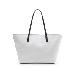 Maxi-bag bianca in eco-pelle con manici neri, Borse, 133783134EPBIANUNI, 003 preview
