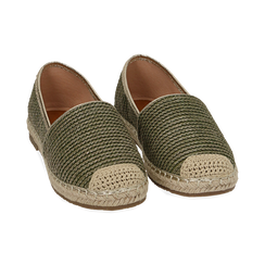 Espadrillas verdi in rafia, Chaussures, 154902099RFVERD036, 002 preview