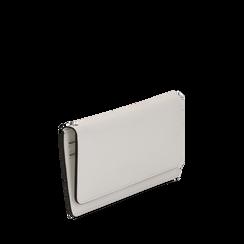 Portafoglio bianco in eco-pelle con laccetto per il polso, Borse, 133723651EPBIANUNI, 002a
