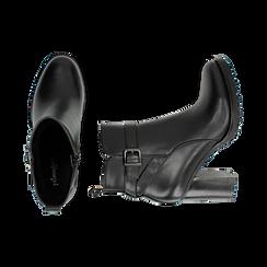 Ankle boots neri, tacco 8 cm , Primadonna, 163066173EPNERO036, 003 preview