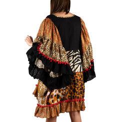 Caftán con estampado de leopardo en tejido patchwork, Primadonna, 150500090TSLEOPUNI, 002a