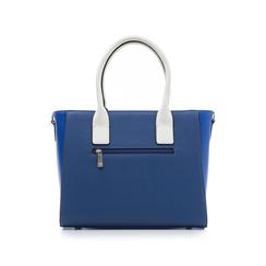 Borsa grande blu in eco-pelle con borchie, Borse, 131900944EPBLUEUNI, 003 preview