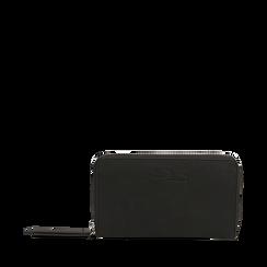 Portafogli nero in eco-pelle, Borse, 143723503EPNEROUNI, 001a