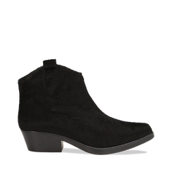 Stivaletti camperos neri in cavallino, tacco 4,5 cm, 12A403988CVNERO036, 001a