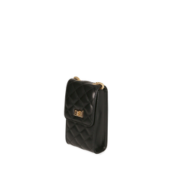 Porta telefono nero matelassé, Borse, 165123155EPNEROUNI, 002a