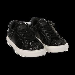 Zapatillas color negro con lentejuelas , Primadonna, 162619071PLNERO035, 002 preview