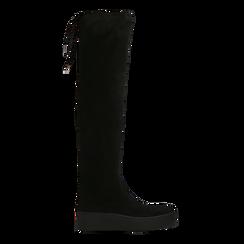Stivali sopra il ginocchio neri, suola platform, Primadonna, 129306682MFNERO, 001 preview