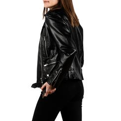 Biker jacket nera stampa pitone, Primadonna, 156501164PTNEROL, 002 preview