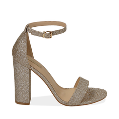 WOMEN SHOES SANDAL GLITTER OROG, Chaussures, 152706086GLOROG035, 001a