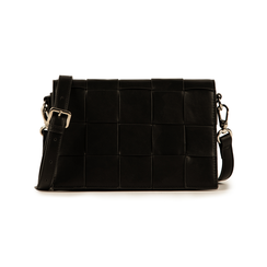 Bandoulière noir en simili-cuir, Sacs, 155701708EPNEROUNI, 001 preview