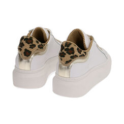 Sneakers blanco/marrón de piel, Primadonna, 17L600103PEMARR035, 004 preview