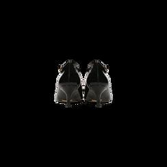 Décolleté nere kitten heels in vernice, tacco 3 cm, Primadonna, 124951721VENERO, 003 preview