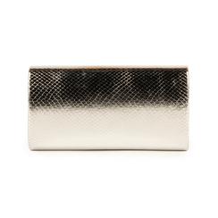 Pochette en eco-piel con estampado de serpiente color plateado, Bolsos, 155108821EVARGEUNI, 003 preview