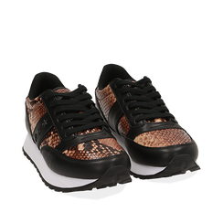 Zapatillas marrón estampadas piton, Primadonna, 162619079PTMARR037, 002a