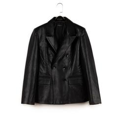 Giacca nera in eco-pelle , NUOVI ARRIVI, 156516125EPNEROL, 003 preview