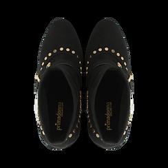 Tronchetti neri maxi-fibbia, tacco 10,5 cm, Primadonna, 122168092MFNERO037, 004 preview