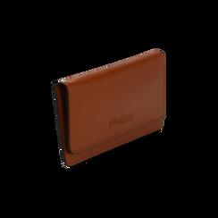 Portafoglio cuoio in eco-pelle con laccetto per il polso, Borse, 133723651EPCUOIUNI, 002 preview