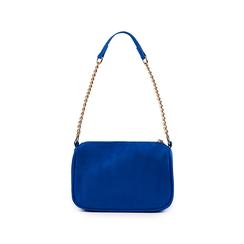 Borsa a tracolla blu cobalto in microfibra, Primadonna, 155127201MFBLCOUNI, 003 preview