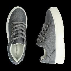 Sneakers argento glitter, suola 4 cm , Scarpe, 142509512GLARGE036, 003 preview