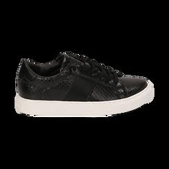 Sneakers noires imprimé vipère, Primadonna, 162619071EVNERO036, 001 preview