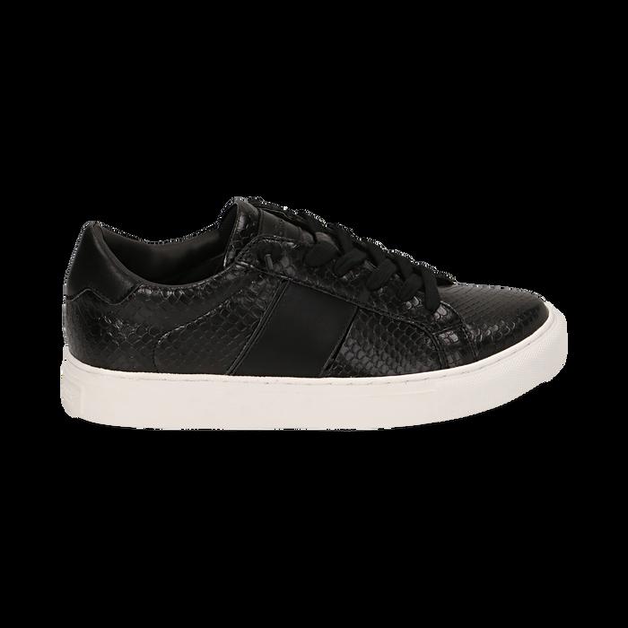 Sneakers noires imprimé vipère, Primadonna, 162619071EVNERO036